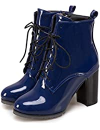 Amazon E it Scarpe Vernice Donna Borse 36 Blu rnr7qwxAY