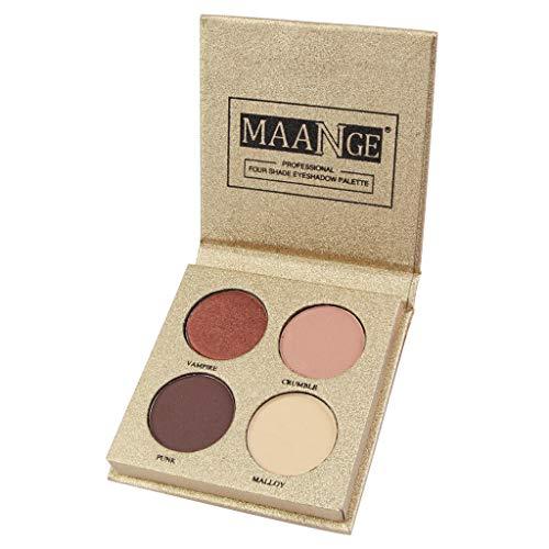 Ombre à Paupières Cosmétique Maquillage 4 Couleur Palette de Poudre de Fard à Paupières Pearl Glitter Mat Pas cher (F)