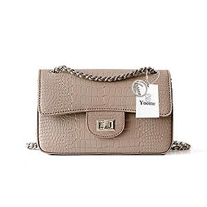 5a7f3d28eb68 Yoome Women Embossed Crocodile Handbags Designer Purses Cowhide Leather  Shoulder Bag