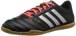adidas Herren Gloro 16.2 indoor Fußballschuhe, Schwarz (Core Black/Silver Metallic/Solar Red), 46 EU
