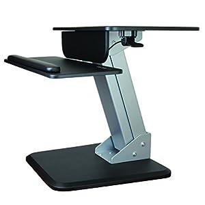 StarTech.com Height Adjustable Standing Desk Converter - Sit Stand Desk with One-finger Adjustment - Ergonomic Desk