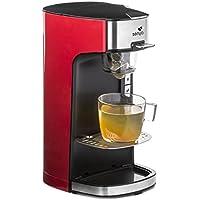 Senya machine à thé Tea Time, théière électrique compatible thé en vrac ou en sachet, avec infuseur amovible, Rouge 1415 W