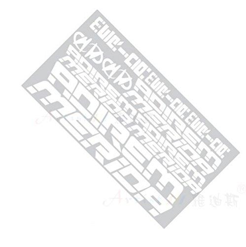 [Lot de 2] Merida étanche la réflexion pour cadre de vélo/vélo de stickers, Blanc
