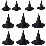 10 Pcs Loveso Halloween Witch Schwarz Hats Hexe Hüte Kostüm Zubehör Cap Kappen