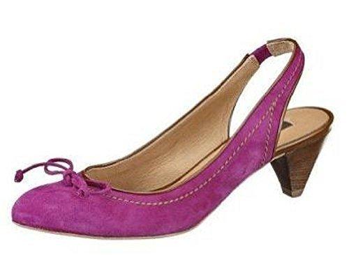 Sling Pumps aus hochwertigem Leder von Zinda - Violett Violett