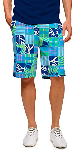 Loudmouth Golf Shorts (Loudmouth Herren Golf-Shorts Stretch Tech-John Daly Preppy Wedding Crashers, Herren, Mehrfarbig, 32)