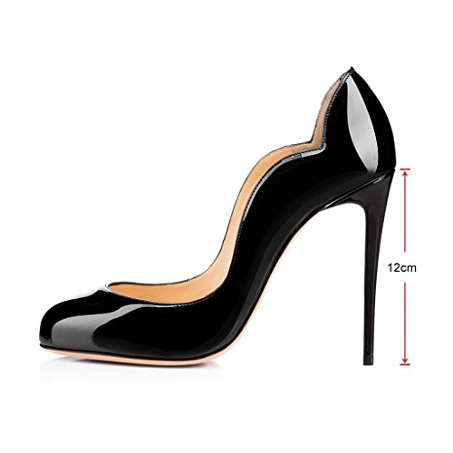 Kolnoo Damen Verblassen Stilettos Pumps mit Gradient Farbe Größe Schwarz