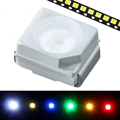 PLCC 2 Oberflächenmontage-LEDs 1 × 50 Stück/Set SMD LEDs Diode Lichter SENRISE Oberflächenmontage LED für HDTV, Flachbildfernseher Zubehör und Desktop PC, mehrfarbig, blau