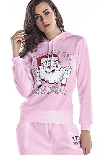 Les Femmes De L'hiver Polaire Un Pull Mobiles Père Noël Sweat Manteau Imprimer Red
