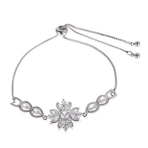 Chenpaif bracciale in acciaio inox con zirconi regolabili gioielli moda braccialetto regali