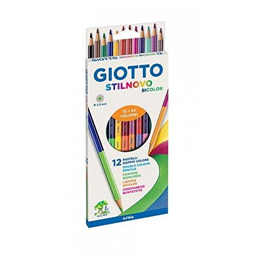 Giotto stilnovo bicolor 12 mattie e 24 colori con mina da 3 3
