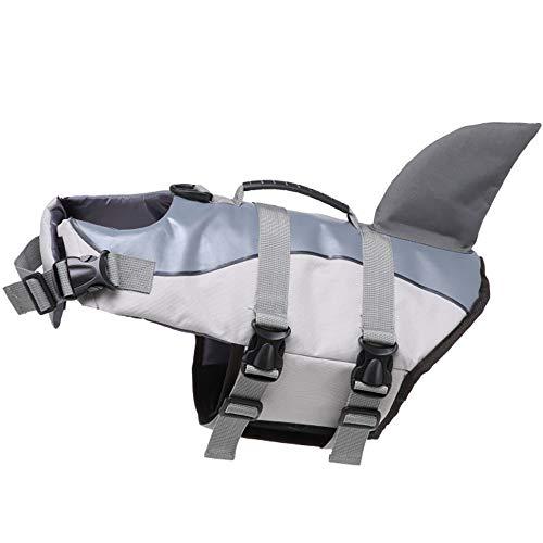 Badeanzug Für Hunde, Schwimmweste Für Hunde Whale Coat Pet Safety Swimsuit Schwimmweste Preserver Aquatic Sailing Safety Badeanzug Für Hundelifeguard Protection,Gray,S