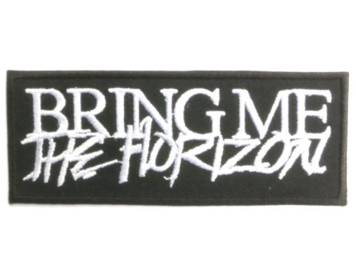 BRING ME THE HORIZON Logo Deathcore Metal aufnaher patches4'/10.2cm x 1.5'/4cm By...