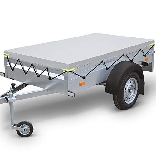 ELUTO Anhängerplane Plane Für Pkw Anhänger Pflege und Gummigurt mit Reflektierende Strips Wasserdicht 2075 * 1140 * 150mm