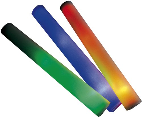 Beco 3 x LED Leuchtstab 6 Farbeffekte batteriebetrieben – mehrfarbig – 40x4,5cm