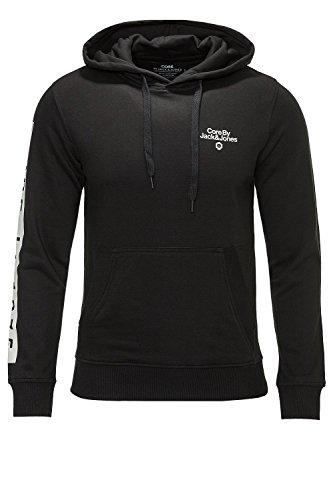 Jack & Jones Sweatshirt Mono Sweat Hood Black