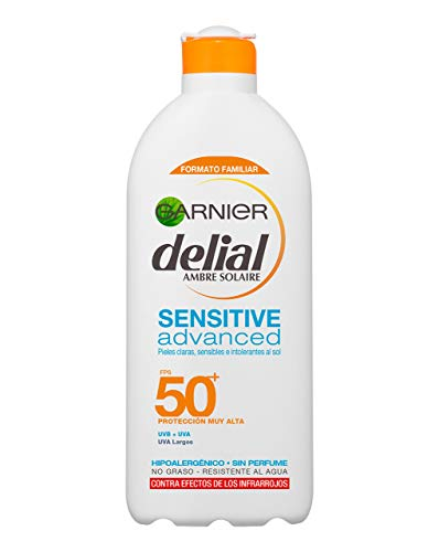 Garnier Delial Sensitive Advanced Leche Solar IP50+ 400 ml