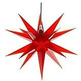 Cepewa 30189 Weihnachtsstern rot Stern 3D 35 cm Lampe Fensterstern Adventsstern Deko