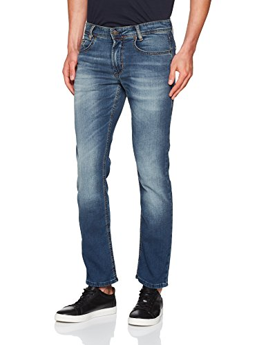 MAC Herren Slim Jog'n Jeans Blau (Blue Grey Authentic Wash H786)