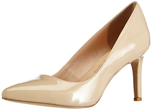 Buffalo Shoes Damen H733-C002A-4 P2010F Pumps, Beige (NUDE 01), 39 EU - Pumps Leder