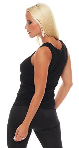 2er Pack Damen Top (Shirt, Oberteil, Damen-Hemd) Nr. 403 ( Schwarz / 56/58 - (XXXL) ) - 3