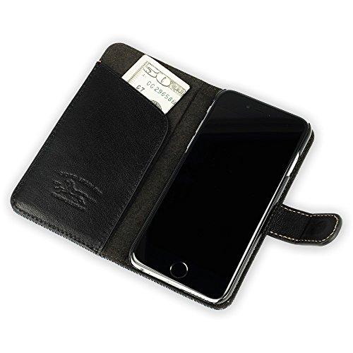 """QIOTTI >             APPLE iPHONE 6 PLUS / 6S PLUS (5,5"""")             < incl. PANZERGLAS H9 HD+ 2-in-1 Booklet mit herausnehmbare Schutzhülle, magnetisch, 360 Grad Aufstellmöglichkeit, Wallet Case Hülle Tasche handgefertigt  RAW BLAU"""