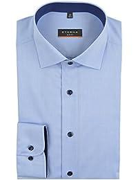 eterna Langarm Hemd Slim Fit Stretch Unifarben