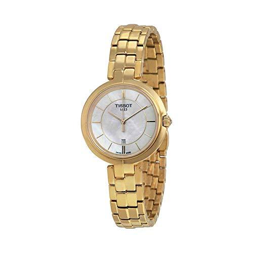 Tissot Damen-Uhren Analog Quarz One Size Gold/perlmutt 32001733