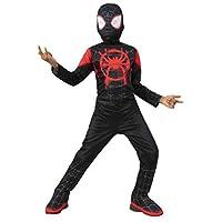 Spider-Man: Into The Spider-Verse Child's Mile Morales Spider-Man Costume Jumpsuit & Mask, Large