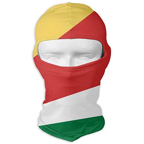 Xukmefat Flag of Seychelles Full Face Mask Balaclava Wind Resistant Face Mask
