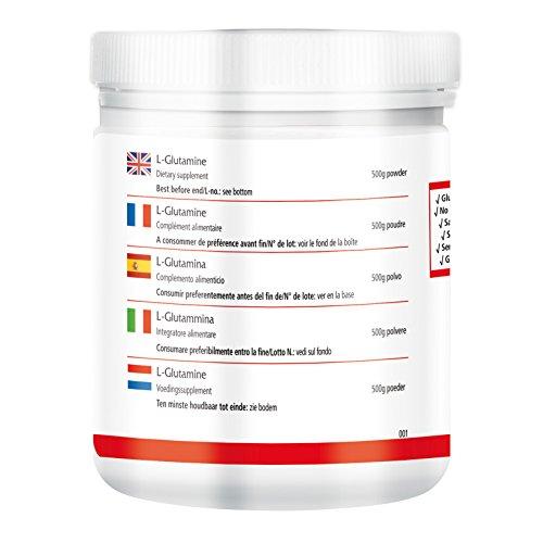 L-Glutamin Pulver – für 100 Tage – VEGAN – HOCHDOSIERT – 500g – Aminosäure ohne Zusatzstoffe
