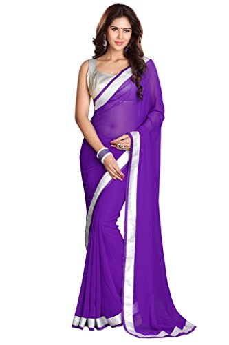 Damen Bollywood Saree mit Ungesteckt Oberteil/Top Mirchi Fashion Indian Sari