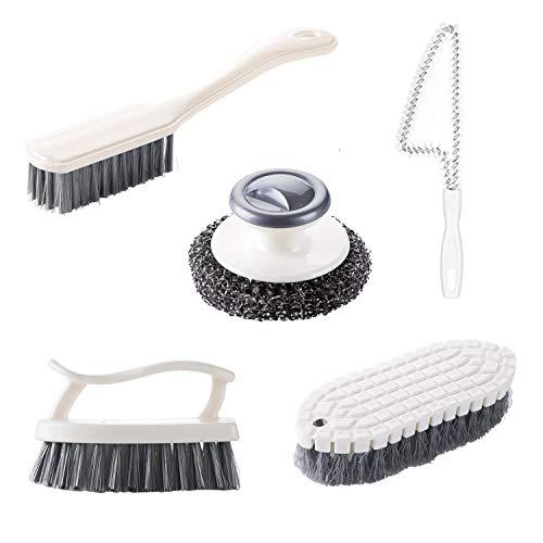 HENSHOW 5-teiliges Reinigungsbürstenset, Bürste Badezimmerbürste, Küchenbürste, Schuhputzbürste,
