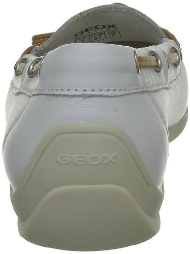 Geox D Yuki A, Mocassins femme Blanc (C1000)
