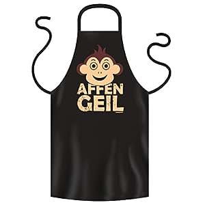 Tolle Schürze von Goodman Design : AFFEN GEIL ! TOP Grill und Kochschürze in schwarz