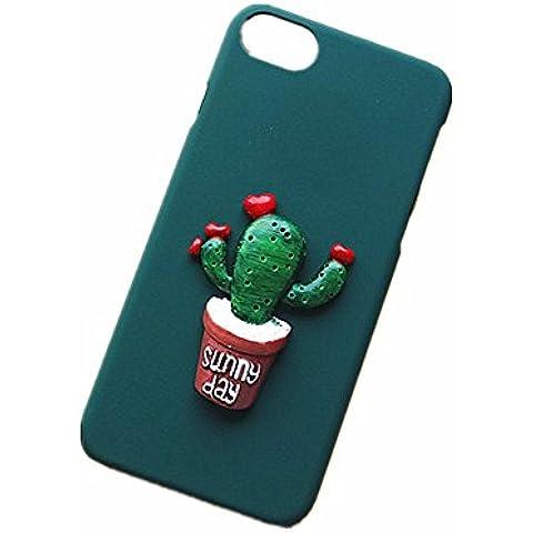 SEDERET 7 Caso iPhone, cassa bella Cactus dimensionale modello rigido di copertura resiliente ultima protezione da cadute e impatti per iPhone 7 (03)