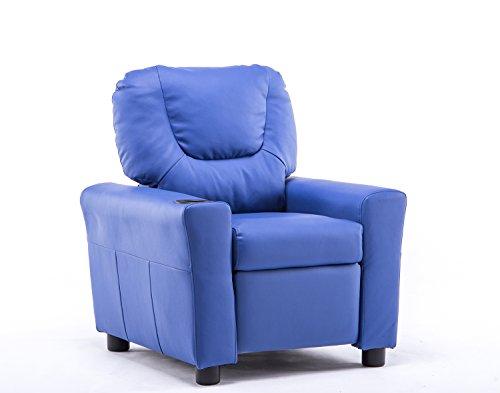 MCombo Kindersofa Kindersessel Fernsehsessel Relaxsessel mit formstabiler Schaumsoff (Blau)
