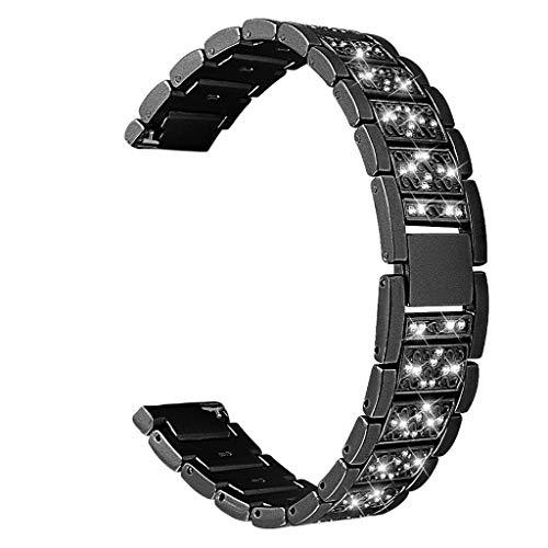 Webla Uhrenarmband für Samsung S3 Watch 46mm in Ersatz Edelstahl, Metall -