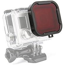 Luxebell Filtro de Buceo Rojo para Gopro Hero 4 Black, Silver y Hero3+ Carcasa Estandár - Rojo