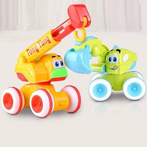0Miaxudh Bagger Spielzeug, Kinder Jungen Bagger LKW Auto Engineering Van Spielzeug Fahrzeug Modell Kinder Geschenk - Zufällige Farbe