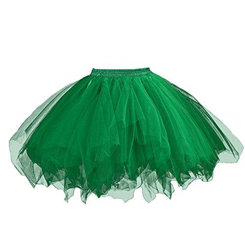 Feoya Damen Tutu Unterkleid 50er Retro Petticoat Kurz Ballett Tanzkleid Party Minirock Mehrschichtige Tüllrock Tütü Cosplay Unterrock