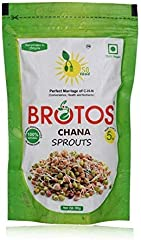 BROTOS Chana Bean Sprouts with Masala Sachet Inside, 80g(After rehdration it gives 250 gm)