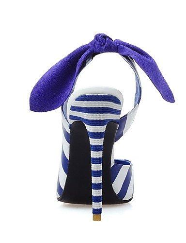 WSS 2016 Chaussures Femme-Habillé / Décontracté / Soirée & Evénement-Bleu / Beige-Talon Aiguille-Talons / Bout Pointu-Talons-Cuir / Poils beige-us3.5 / eu33 / uk1.5 / cn32