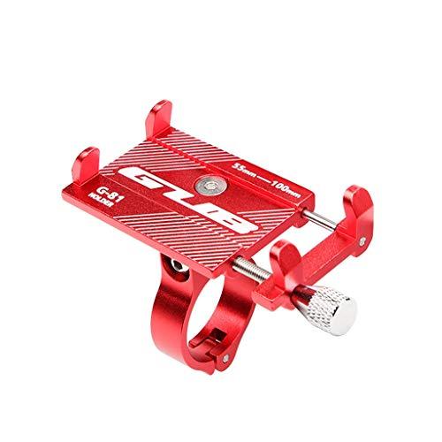 Jamicy® DF65 - Supporto Universale in Lega di Alluminio per iPhone, Smartphone Android da 3,5 a 6,2 Pollici Rot M