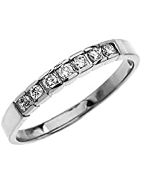 Elegant Channel Set Diamond 14 ct White Gold Wedding Band