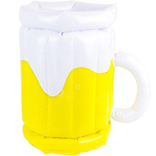 Wahou ziervolants 38-1q-008Eiseimer Maßkrug XL aufblasbar weiß und gelb PVC
