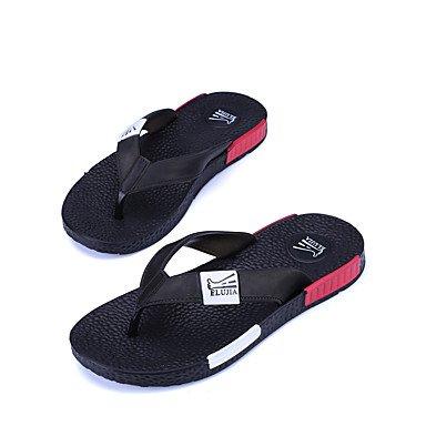 Slippers & amp da uomo;Cuoio Estate slingback in microfibra informale all'aperto sandali piani del tallone sandali US7.5 / EU39 / UK6.5 / CN40
