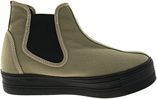 Maxstar  C30-SideSpan, Chaussons montants femme Vert - Khaki