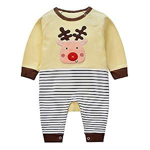 Minizone-Bebs-Pijama-Algodn-Mameluco-Nias-Nios-Pelele-Mono-Caricatura-Trajes-6-9-Meses