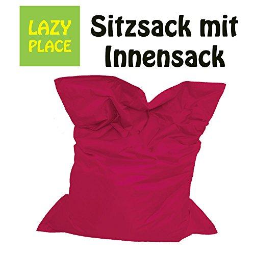 XXL Sitzsack Outdoor und Indoor, Lazy Place, abwaschbar, wasserfest, mit Innensack (magenta)